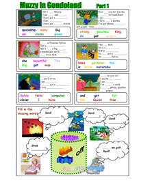 Muzzy in Gondoland Worksheets I am going to use it with all the languages we are learning even though we only have French and Spanish Muzzy programs.