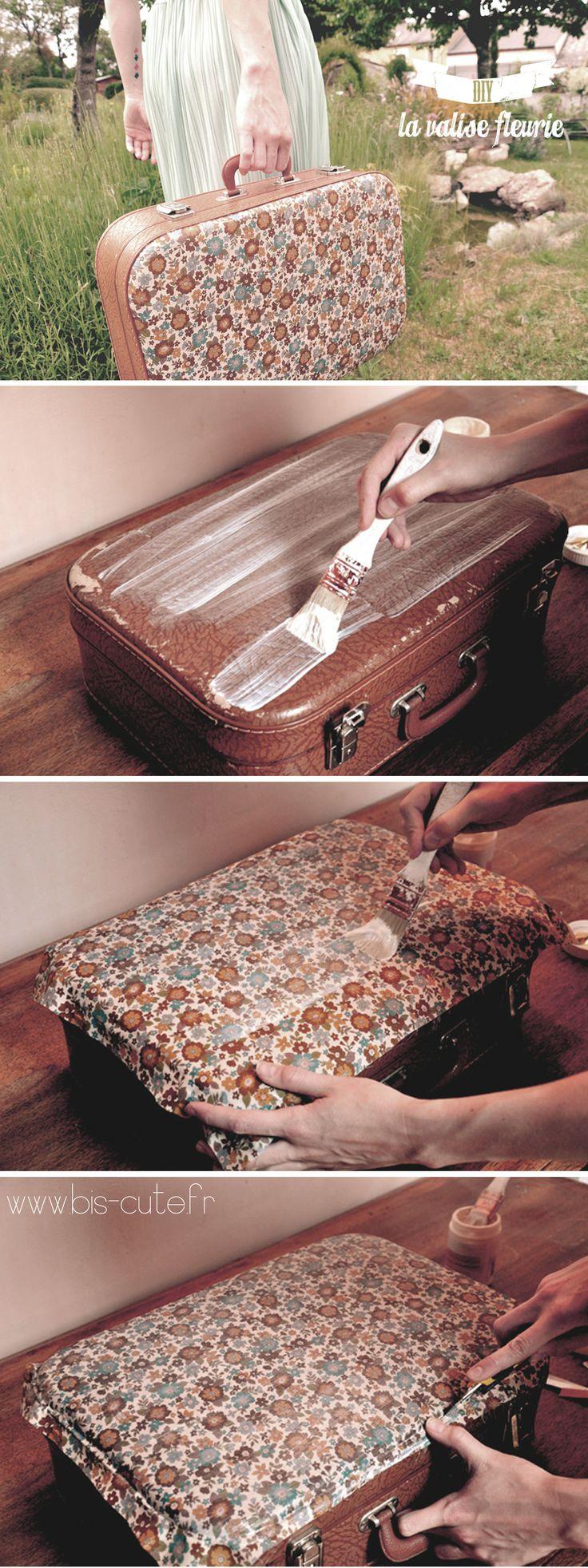 DIY - La valise fleurie www.bis-cute.fr