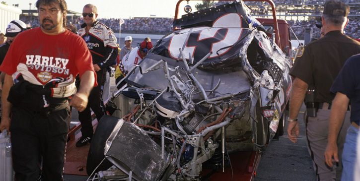 1996 Dega crash. #DaleEarnhardt http://www.pinterest.com/jr88rules/dale-earnhardt/