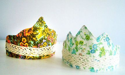 Tutorial: Child's fabric crown, plus 6 free templates  http://sewing.craftgossip.com/tutorial-childs-fabric-crown-plus-6-free-templates/2014/07/01/