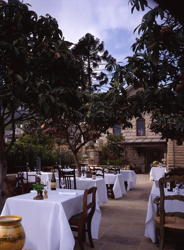 San Ysidro Ranch - The Stonehouse Restaurant Lower Patio