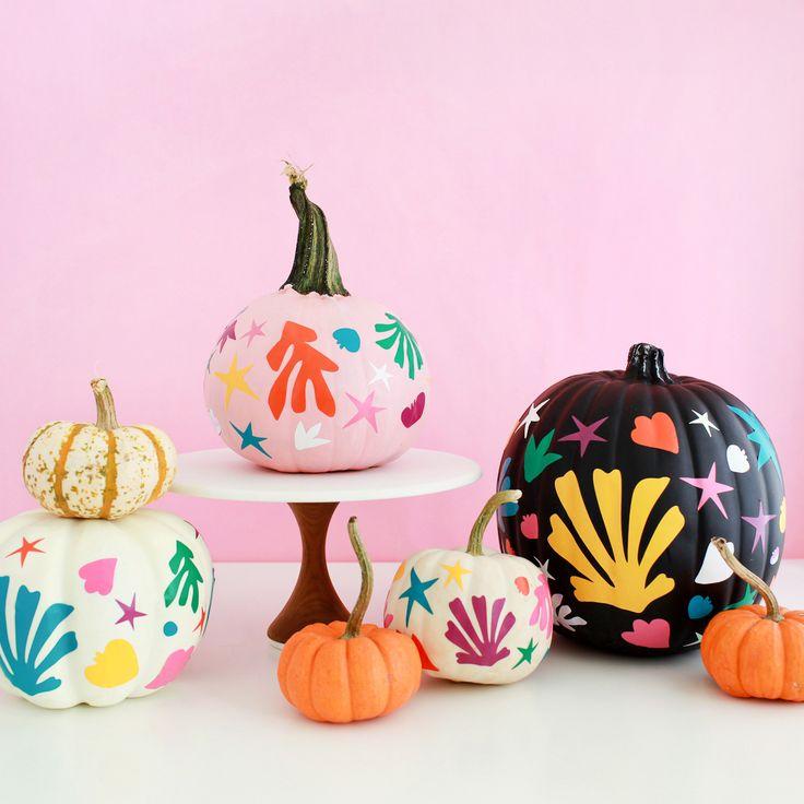 DIY Matisse-Inspired Pumpkins