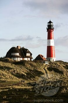 North Sea Island Sylt Hoernum Lighthouse