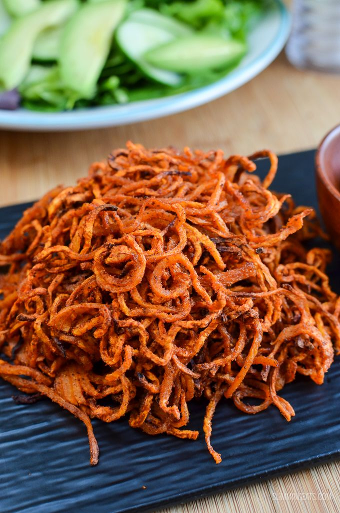 Syn Free Spiralized Seasoned Swede Fries - a perfect side dish for when you want to increase the speed foods on your plate.