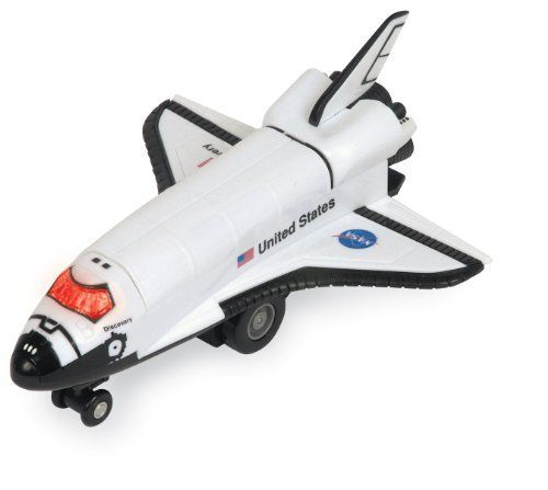 Space Mission Radio Control Space Shuttle by Daron. $22.76. Auto Turn and Reverse. Sound and LED Lights. High Speed Performance. Goes Straight. Flexible antenna. From the Manufacturer                Space Shuttle Radio Control                                    Product Description                This radio controlled aircraft features forward take-off action, cockpit light, 360 degree turning ability, and a durable hand- controller. Uses two AA batteries and on...