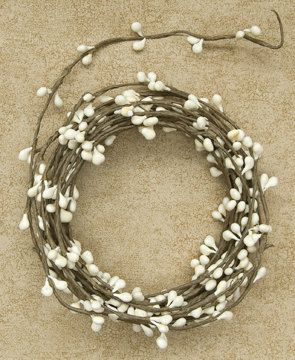 One 18' Ivory Pip Garland  Primitive Crafts by AGiftFromNature, $4.65