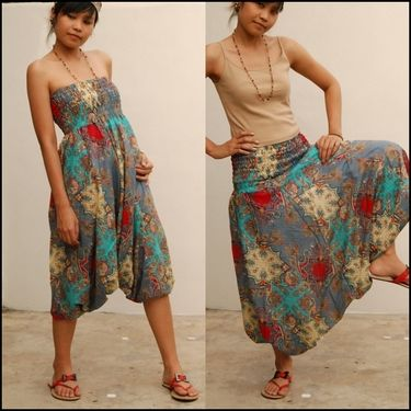 harem pants/jumper. Not really my style, but.....looks like a skirt and could be appropriate for some type of activity.
