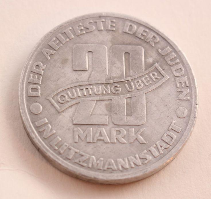 Second World War Litzmannstadt Ghetto  20 Mark, 1943