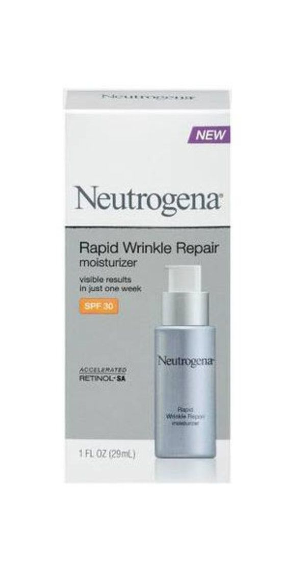 """Neutrogena Rapid Wrinkle Repair Moisturizer SPF 30: """"One of my favorite OTC retinoids is Neutrogena Rapid Wrinkle Repair Moisturizer SPF 30. It works against fine lines during the day with a unique sunscreen and moisturizer hybrid.A glucose derivative is combined with this retinol formula to help brighten discoloration. I especially like that it contains hyaluronic acid which holds up to 1,000 times its weight in water."""" ––Jeanette Jacknin M.D. and Brand Ambassador for ZSS Skincare…"""