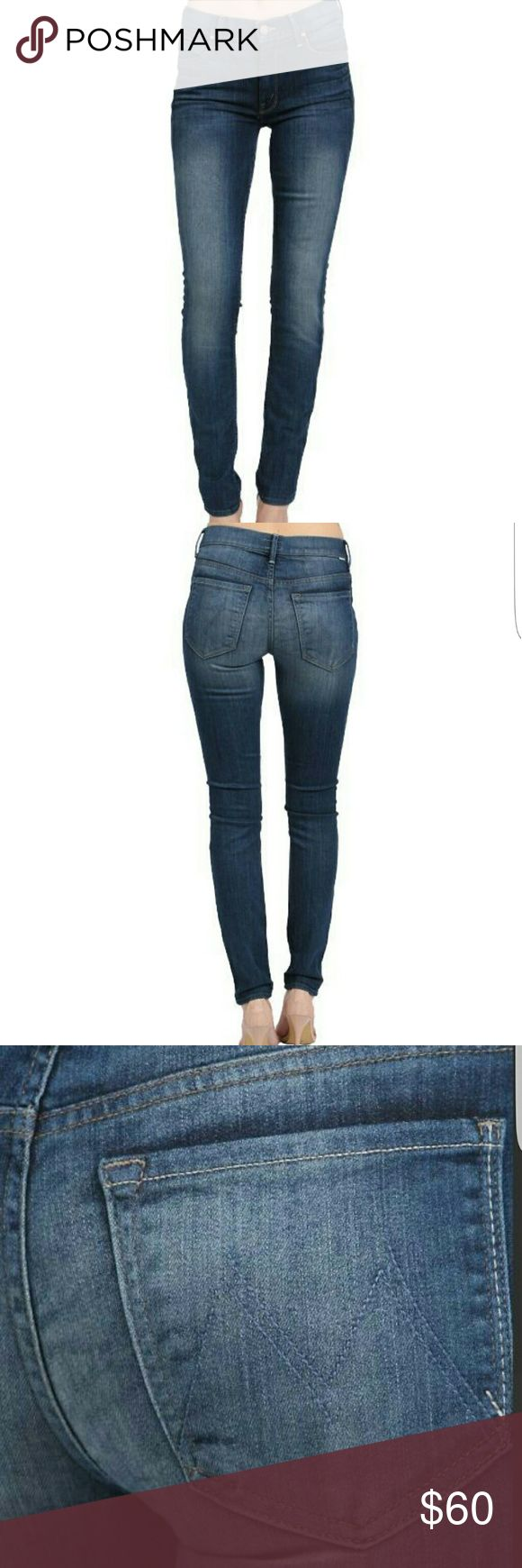 MOTHER JEAN THE MUSE( BITTEN AND SMITTEN) 28 GRAAT CONDITION, LIKE NEW WHISKERING ON FRONT A LONG POCKETS SLIM, SKINNY MOTHER Jeans
