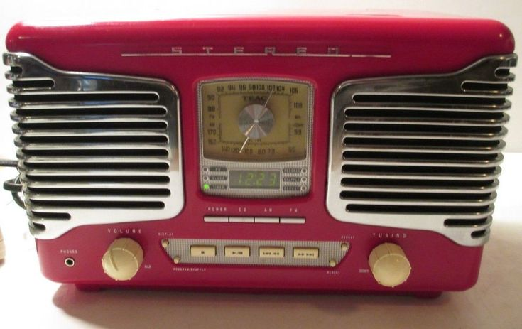TEAC Model SL-D80 RED Retro Nostalgia Radio CD Player AM/FM Stereo Alarm Clock #TEAC
