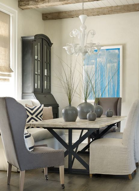 Use Bright Artwork To Give A Burst Of Color Neutral Dining Room