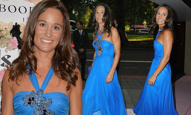 Pippa Middleton wears stunning blue gown for charity boxing event on 12 September 2015