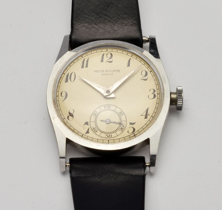 Patek Philippe stainless steel pre 96 1930s jewels 18, case 30,5 + Crown and adjusted 8