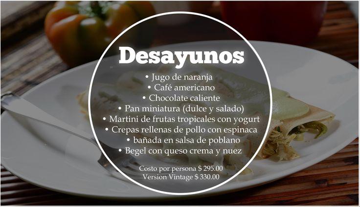 #Desayunos #Gourmet #CDMX #Eventos Los mejores Desayunos para tu evento en México. Nosotros te ofrecemos el mejor servicio para tus invitados. ORGANIZACIÓN DE EVENTOS La Buff.  Precio: $295 x persona. Version Vintage $ 330.00 Tel: 36 00 52 74 WhatsApp. 55 83 45 07 79 www.eventoslabuff.com