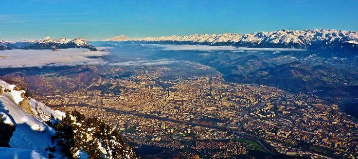 Looking down on Grenoble, France