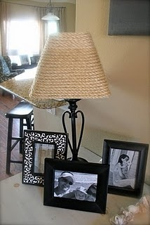 sea grass lampshade - I'm going to redo my lamp shades downstairs!!!