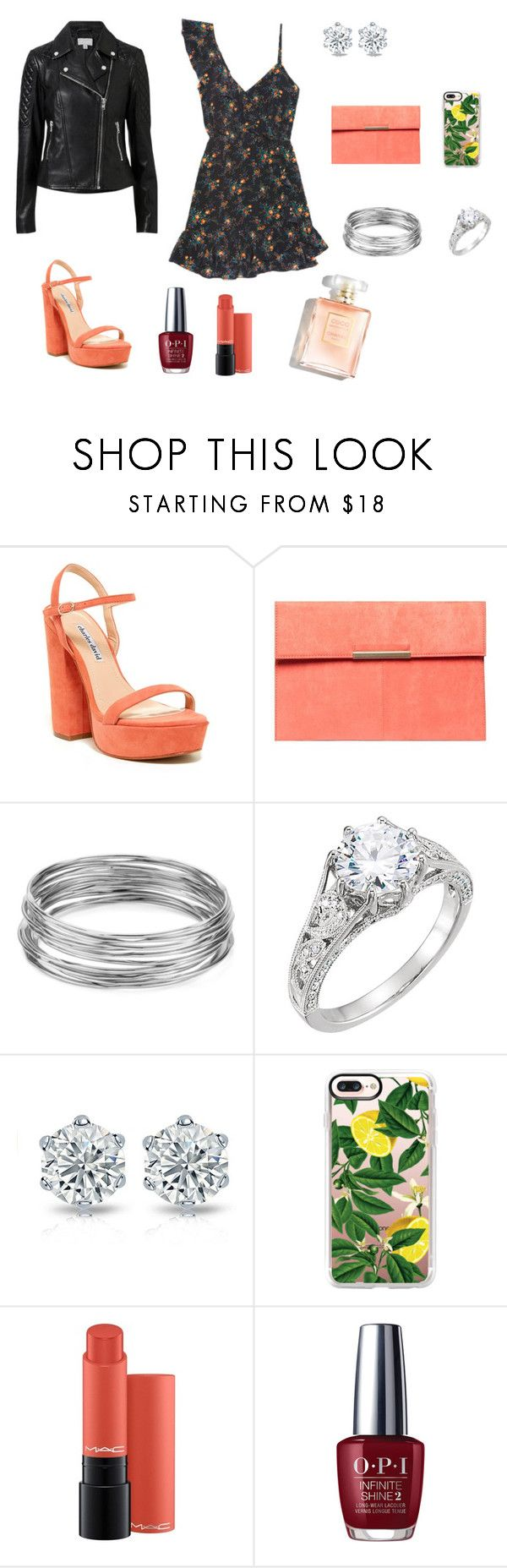 """""""1"""" by ananleke on Polyvore featuring moda, Charles David, Dorothy Perkins, Aqua, Casetify, OPI y Witchery"""