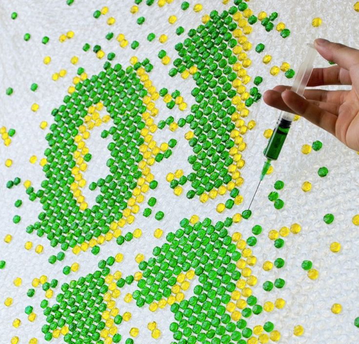 bubble wrap typography by lo siento for wired UK