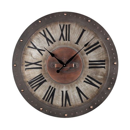 Metal Roman Numeral Outdoor Wall Clock Sterling Industries Outdoor Clocks Clocks Home Deco