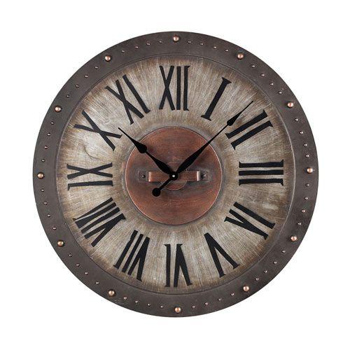Metal Roman Numeral Outdoor Wall Clock Sterling Industries Outdoor Clocks Clocks Home Deco