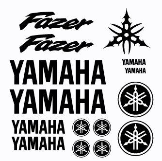 Kit Stickers Yamaha Fazer modèle 1