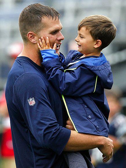 Tom Brady and son Benjamin