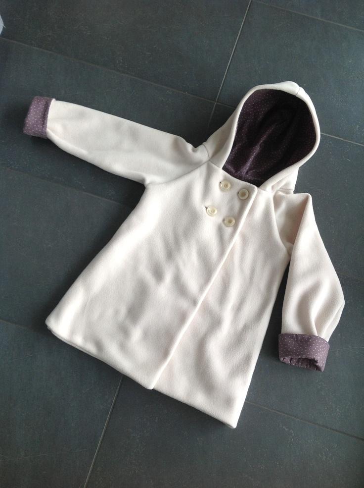 Lined little hooded coat