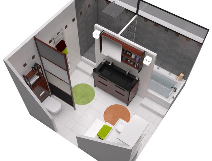 Salle de bain dans le meme type de configuration carnet - Configuration salle de bain ...