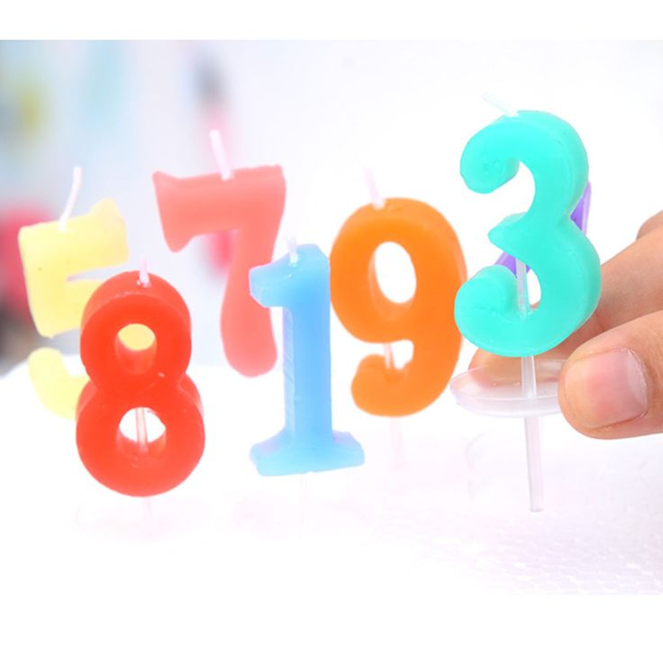Birthday Festival Cake Numbers Candle Party Celebration Candle Edible Wax Lovely #BirthdayCakeCandle