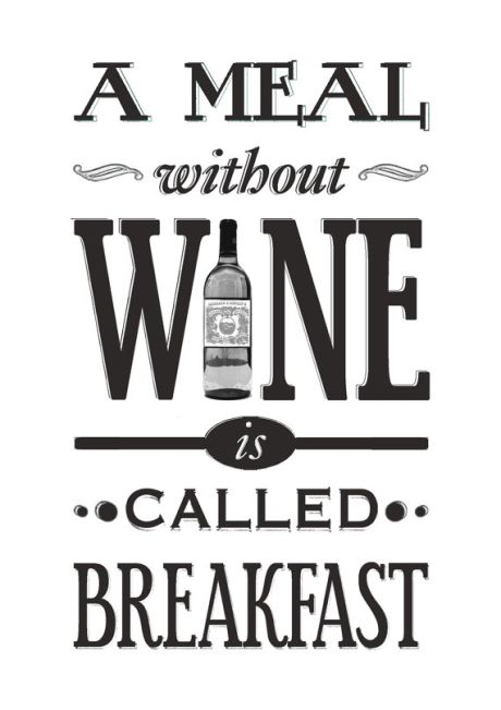 Kitchen Wine Quote Print