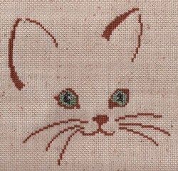 A Touch of Cat (N04) for Cross Stitch