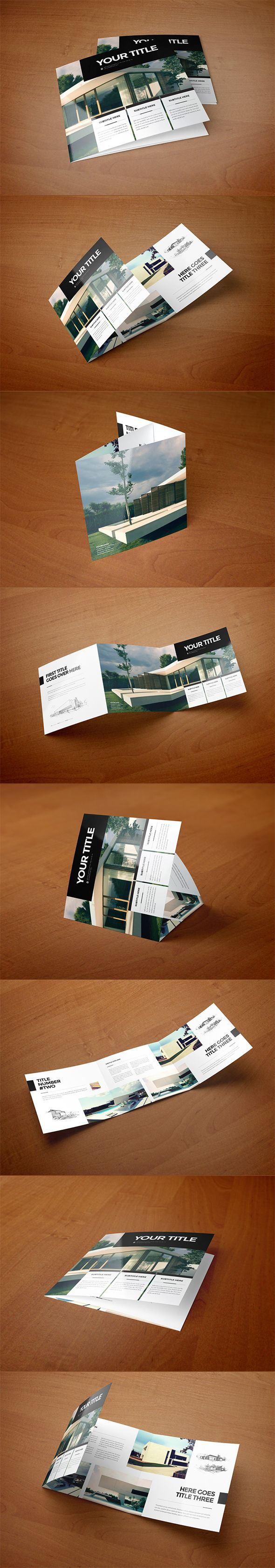 Square Minimal Architecture Trifold on Behance