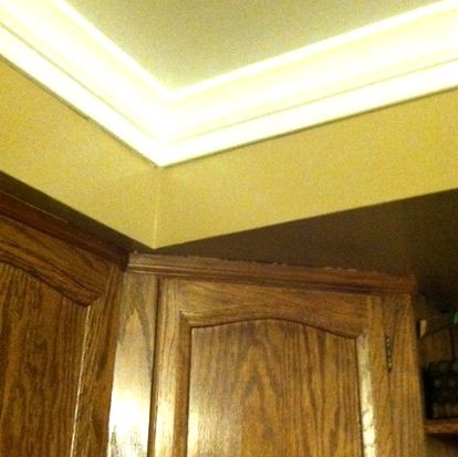 foam crown moulding it so easy completed job pictures, diy