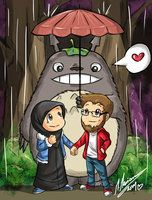 us....and totoro XD by madimar