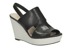 Scent Whisp, Black Leather, Womens Smart Sandals
