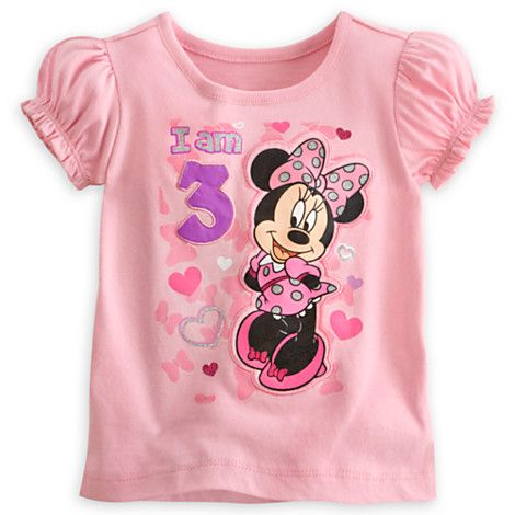 Minnie Mouse ''I Am 3'' Birthday Tee for Girls