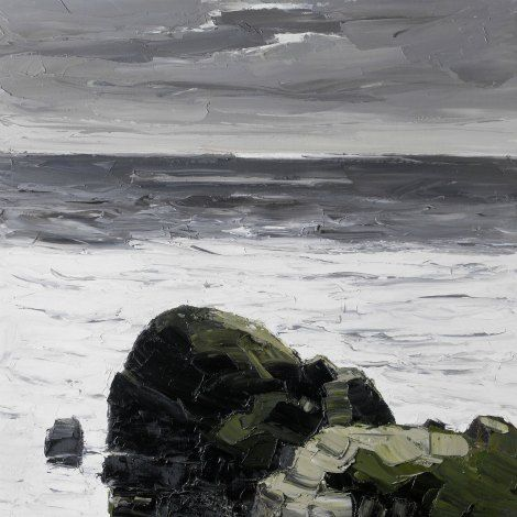 "Kyffin Williams  ""Dark Rock – South Stack"""