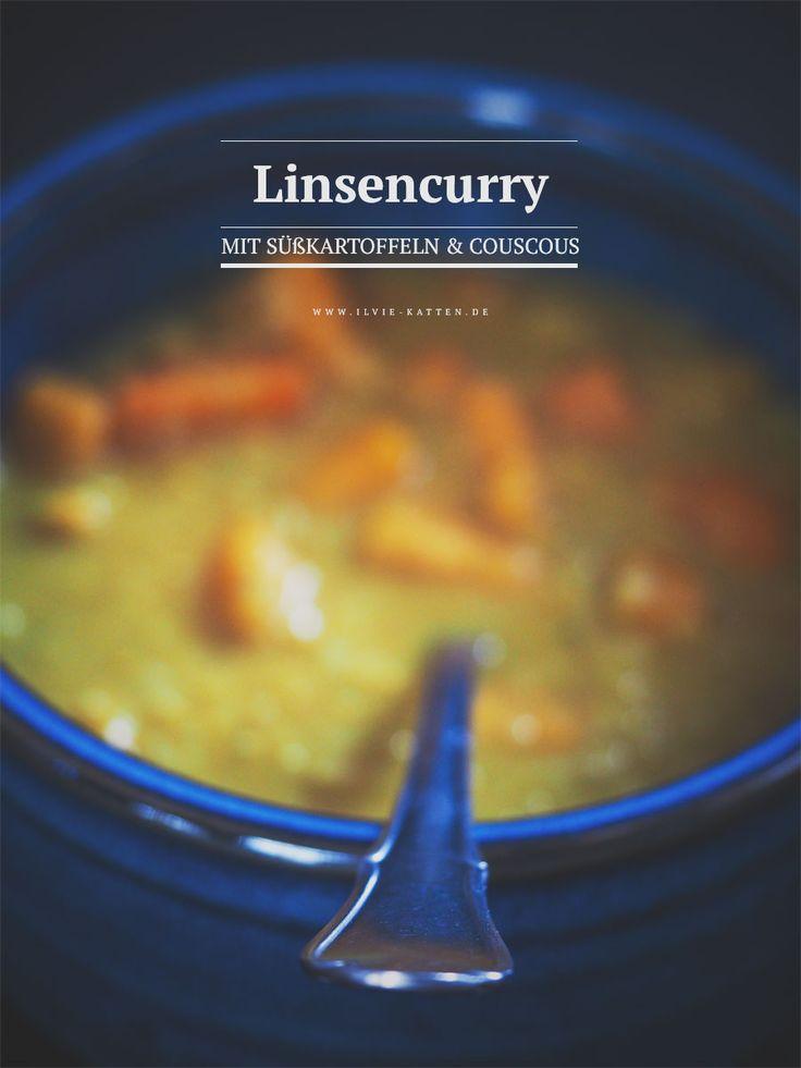 Rezept: Linsencurry mit Süßkartoffeln und Couscous