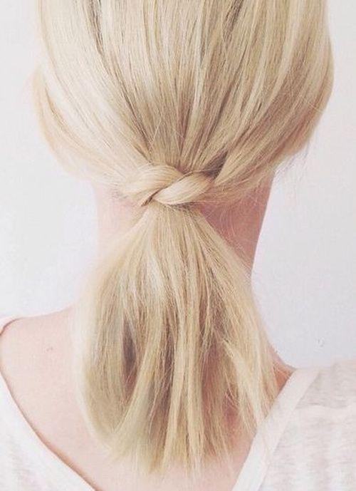 ponytail for short hair