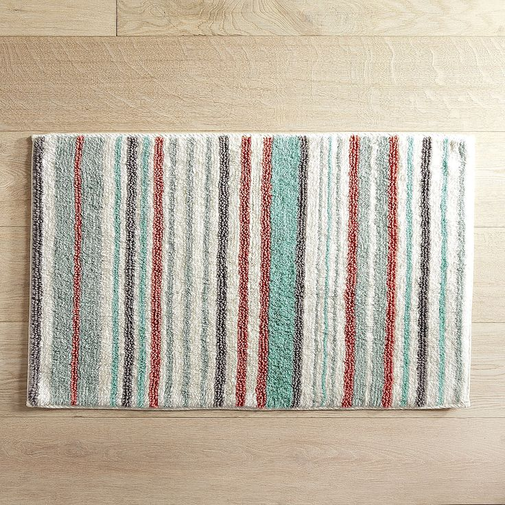 Striped Turquoise 21x34 Bath Rug. 17 Best ideas about Bath Rugs on Pinterest   Towel rug  Tiny half