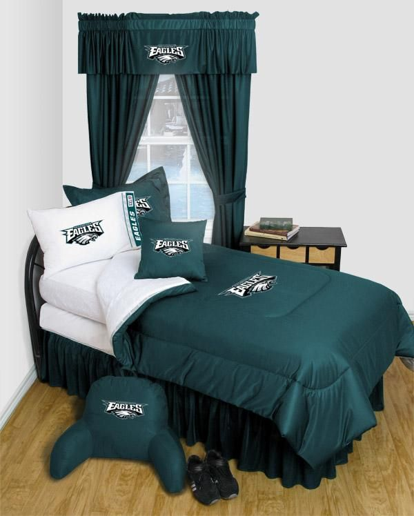 Philadelphia Eagles NFL Locker Room Bedding. 12 best Eagles Room images on Pinterest   Basement ideas  Nfl