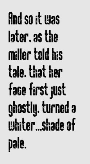 Procol Harum - White Shade of Pale - song lyrics, music lyrics, song lyrics, song quote,s songs