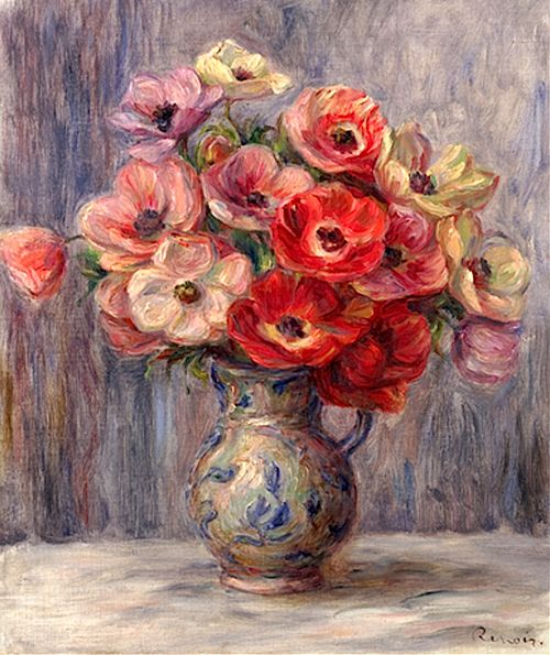 Pierre Auguste Renoir - Anemones, ca. 1883-1890.