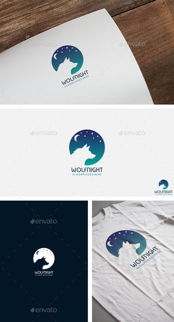 Wolf Night Logo Template #design #logotype Download: http://graphicriver.net/item/wolf-night-logo/12356813?ref=ksioks