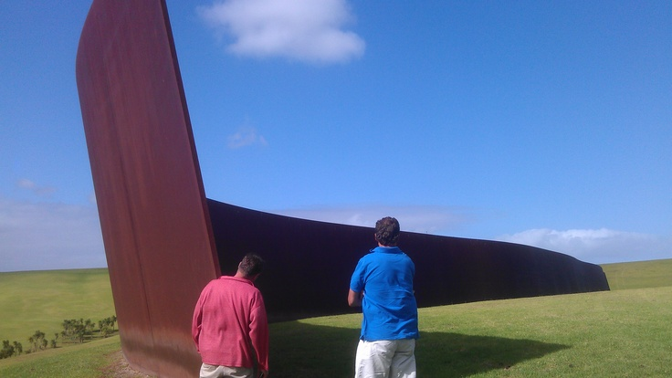 "The Amazing Wall was my interpretation.  The artist Richard Serra called it ""Te Tuhirangi Contour"".  It consists of 56 corten steel plates.  You have to see it to believe it.  http://www.matakanacountry.co.nz/home/home/"