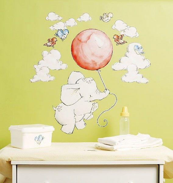 Trend Babyzimmer deko wandtattoo kinderzimmer kreative wandgestaltung selbstklebende wandsticker