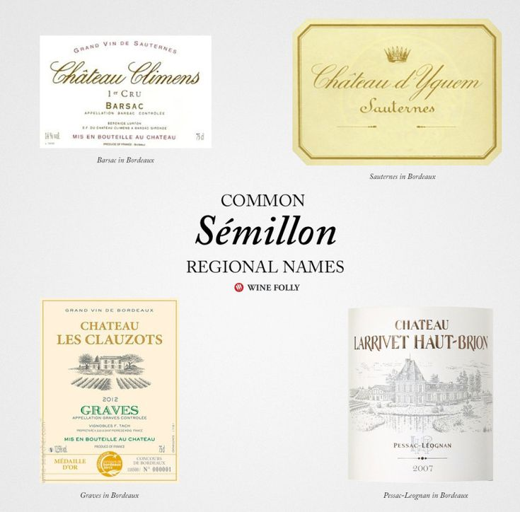 Common names for French Sémillon wines http://winefolly.com/review/french-white-wines/
