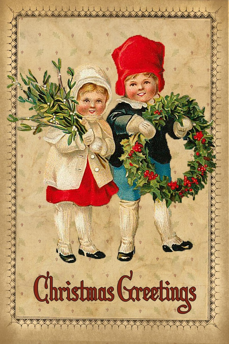 Free printable vintage christmas cards - I Love Vintage Christmas Tags