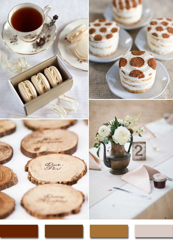 shades of brown 2015 rustic wedding color trends #weddingcolors #elegantweddinginvites